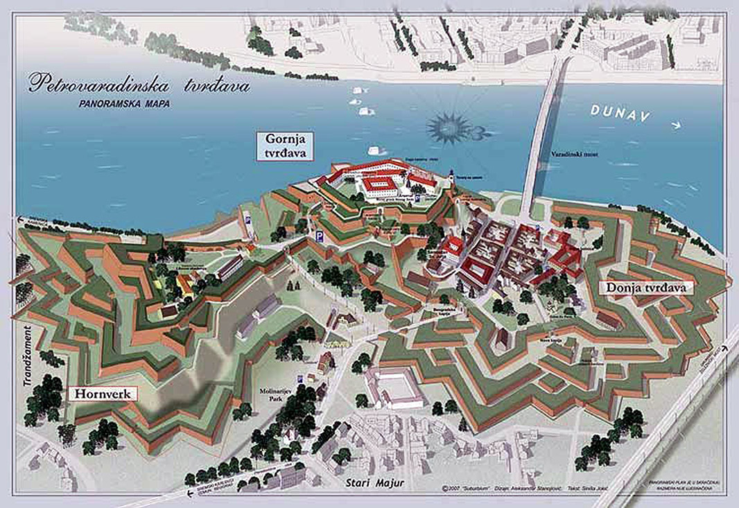 petrovaradin mapa Petrovaradin Fortress @ Starforts.com petrovaradin mapa